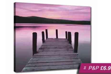 Your Image On Canvas -  A4 personalised canvas print - Save 92%