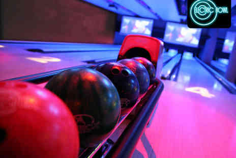 Electric Bowl - Two Games of Ten Pin Bowling on a Private Lane with Two Drinks Each for up to Six  - Save 58%
