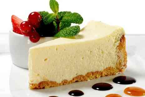 Lucys Tea Room - Cheesecake With Ice Cream and Hot Drink For Two  - Save 50%