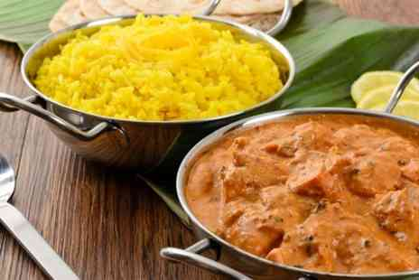 Kismet Indian Cuisine - Three Course Indian Meal With Sides For Two  - Save 50%