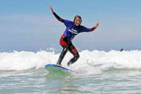 newquay surfing school - Two Hour Newquay Surfing  Lesson With Equipment Hire  - Save 50%