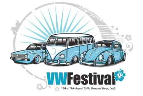 VW Festival - Adult Ticket  With Free Entry For One Child - Save 44%
