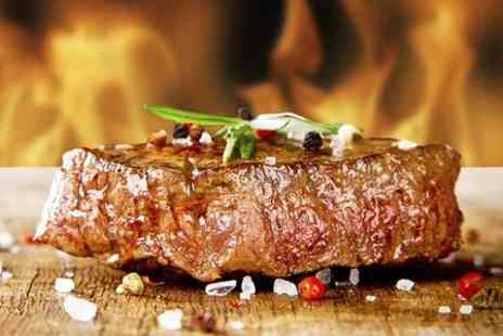 Steakout Meat House - Steak Meal With Soft Drink For Two  - Save 49%