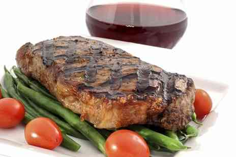 The Sloop - Steak Meal With Wine For Two - Save 47%
