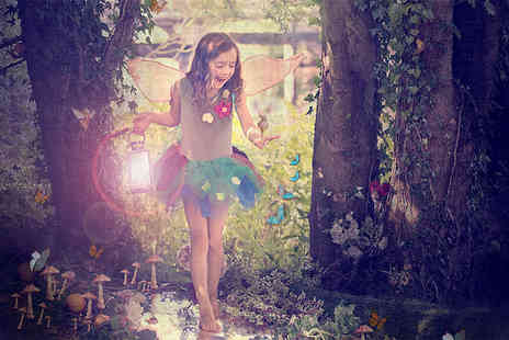 Mackney Photography - Fairy photoshoot for up to 2 kids including photo mug two - Save 93%