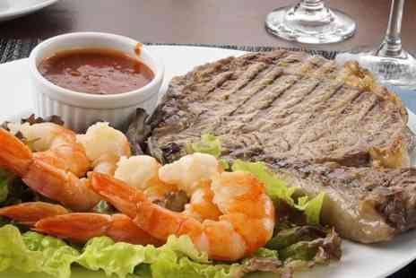 Abari Restaurant - Two Course Surf and Turf Meal With Wine For Two  - Save 66%