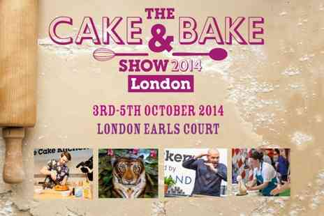 The Cake and Bake Show - Two tickets to The Cake & Bake Show - Save 50%