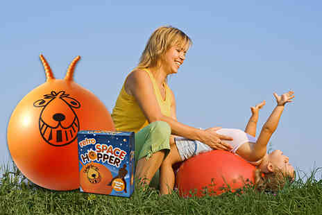Deal Nation - Retro orange space hopper and hand pump - Save 60%