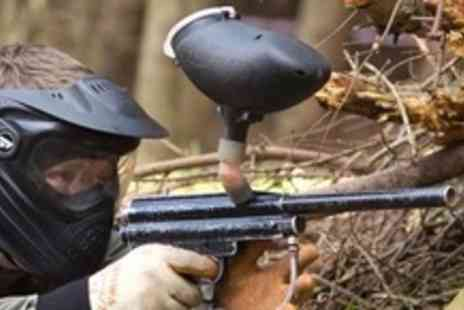 Firepower Paintball - Paintball Experience For Five With Lunch and 100 Paintballs Each - Save 80%