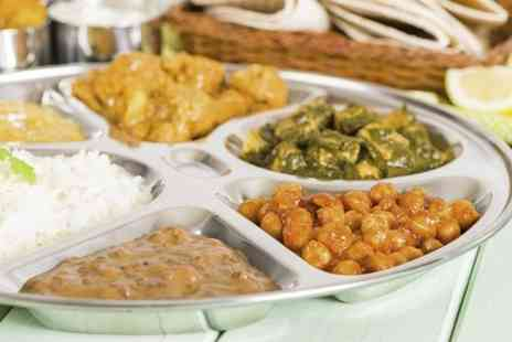 Delhi Deli - All You Can Eat Vegetarian Thali Meal With Drink for Two - Save 37%
