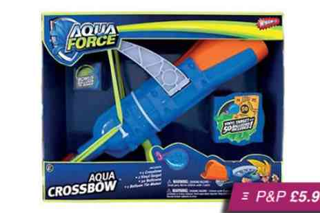 Silver Fishes - Wham O Aqua Force Crossbow with 50 balloons - Save 62%