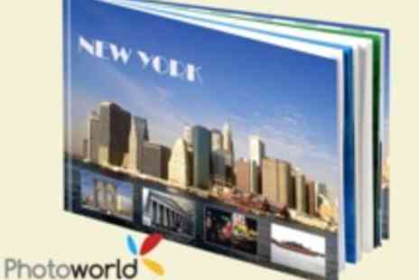 Photoworld - 98 Page Large Hardcover CEWE PHOTOBOOK Top Rated by The Gadget Show - Save 73%