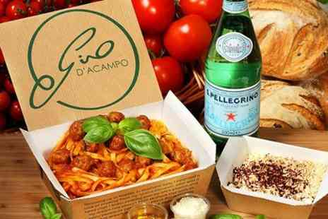 My Pasta Bar - Gino DAcampos My Pasta Bar: Italian Lunch and Drink - Save 36%