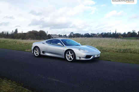 Golden Moments - 25 Mile Max Power Ferrari 348 Motorway Experience - Save 64%