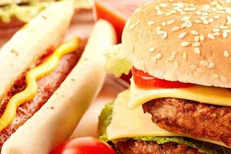 Daddy Gs American Take Out - Burger or Hot Dog Meal For Two - Save 51%