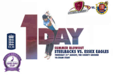Northants Cricket - Tickets to Northants Steelbacks v Essex Eagles Cricket Match - Save 32%