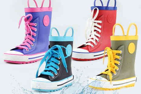 lovebebe shop - Lace Up Wellie Boots in Red, Purple, Green, or Black - Save 58%