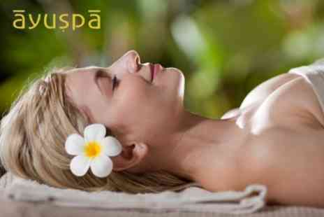 Ayuspa - Three Hour Ayurvedic Beauty Experience Including Herbal Body Scrub, Full Body Massage and Herbal Facial - Save 62%