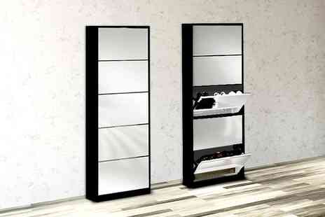 Once Upon a Company - Mirrored shoe cabinet  - Save 55%