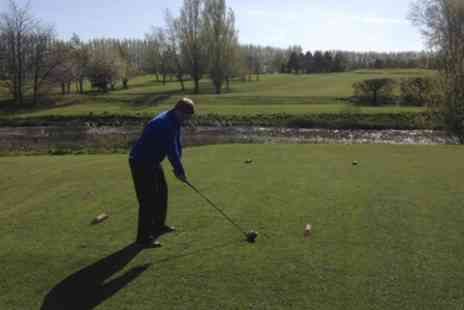 Breedon Priory Golf Centre - 18 Holes Golf With Trolley Hire and Coffee For Two - Save 65%