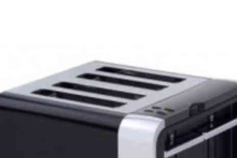 Morphy Richards - Black and Metallic Chunky 4 Slice Toaster - Save 36%