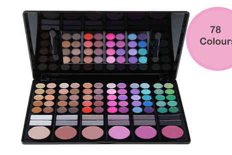 Chazooga - 78 Colour Eyeshadow and Blush Set - Save 78%