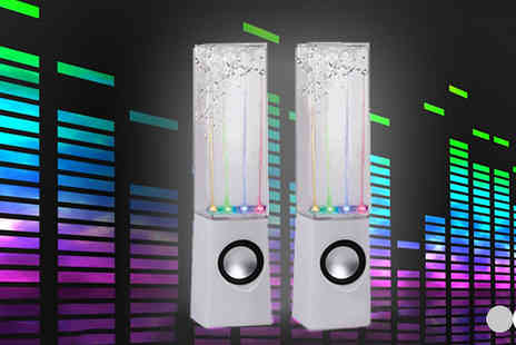 Tooltime - Two  LED Dancing Fountain Speakers  - Save 65%