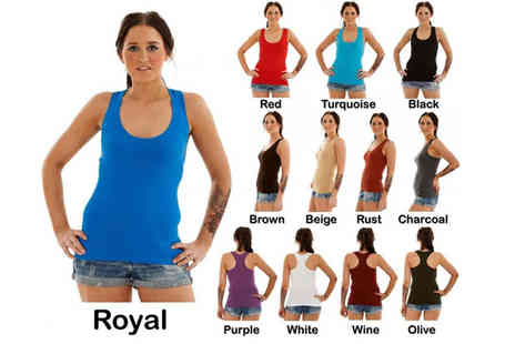 Gaffer Deals - Three Pack of Ladies Ribbed Sports Vests - Save 33%