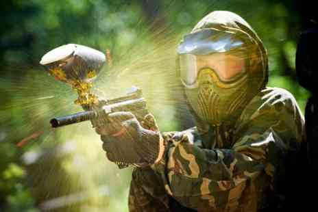 Hamburger Hill - Full day paintballing with 12 games, equipment, 100 paintballs & a Two course lunch - Save 50%