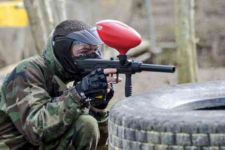 Conflict Paintball - Full Day Paintball With Lunch and 100 Balls Each  - Save 75%