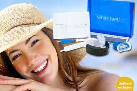 I Want White Teeth - Nine Piece Home Teeth Whitening Kit with Delivery Included - Save 84%