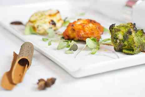 Purple Poppadom - Michelin Recommended Indian Dinner for 2  - Save 50%