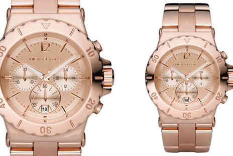 Stagwatches - Michael Kors Dylan Rose Gold Chronograph Watch - Save 42%
