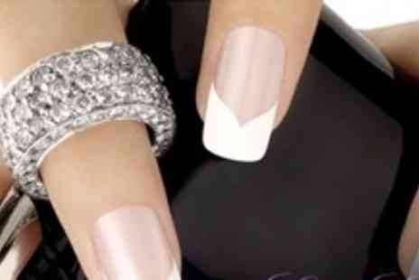 CutieCool Nails - Backscratchers French Tip Acrylic Nail Extensions and Dip With Cuticle Treatment - Save 64%