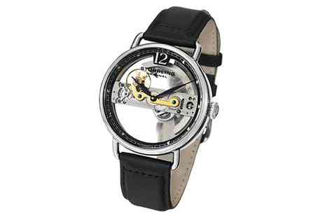 YGS Selections - Stuhrling Automatic Skeletonised Mens Watch - Save 51%