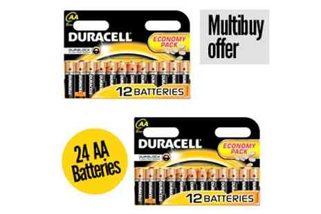 Battery Warehouse - Duracell AA Batteries 24 Pack - Save 46%