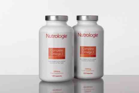 Nutrologie - Eight Month Supply of Omega three Fish Oil Concentrate Capsules - Save 48%