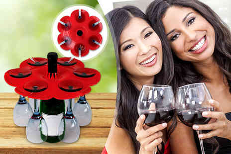 World Spinners - Bouquet wine glass & bottle tray  - Save 67%