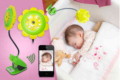 First Kid Shop - Flower baby monitor with inbuilt camera and microphone - Save 57%