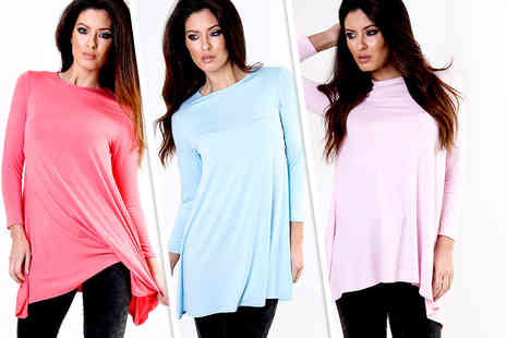 Chique - A line swing dress in a choice of colours - Save 50%