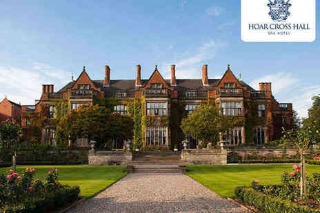 Hoar Cross Hall Spa Hotel - Spa Day with Three Course Lunch for One  - Save 50%