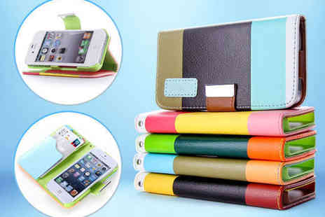 Mobileheads - Faux Leather Phone Case for iPhone or Samsung in Choice of Colour Combination - Save 75%
