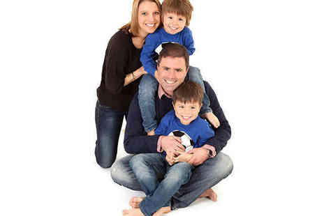 The Click Studios - Family Photo Shoot with One 10x8 Inch and Two 5x7-Inch Prints - Save 94%