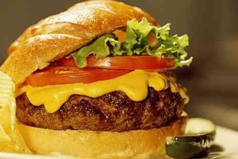 Steakout Meat House - Gourmet Burger Meal With Soft Drink For Two - Save 48%