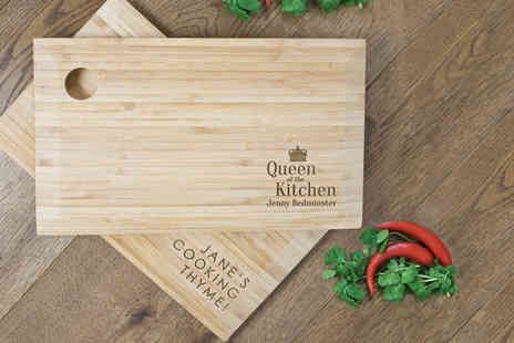 Treat Republic - Personalised bamboo chopping board  - Save 50%