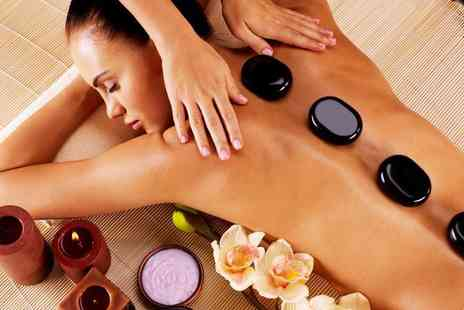 Ultrasonic Angel -  90 minute pamper package including a hot stone massage, mini facial & scalp  massage - Save 68%