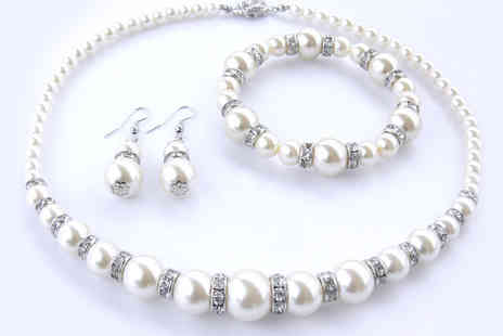 Lily Nicole - Pearl 3pc Set Made With Swarovski Elements - Save 50%