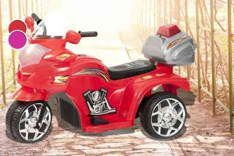Ebuyer - Kids electric police trike in red or pink - Save 49%