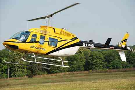 Elite Helicopters - Helicopter flight experience for one person including 10min flying time  - Save 36%