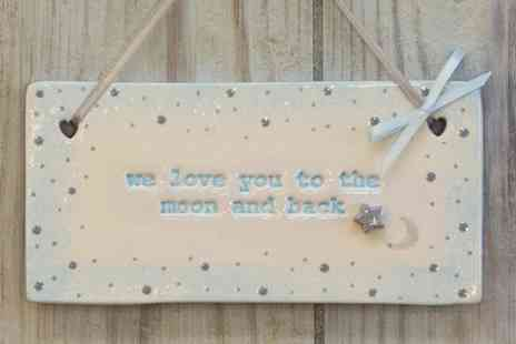 The Pottery Loft Bespoke - Handcrafted Ceramic Plaque - Save 56%
